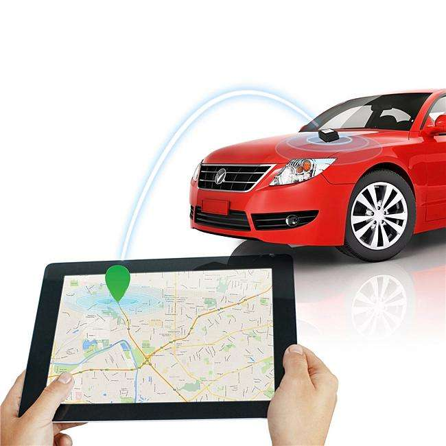 How can a mobile phone locate a vehicle anywhere, anytime?