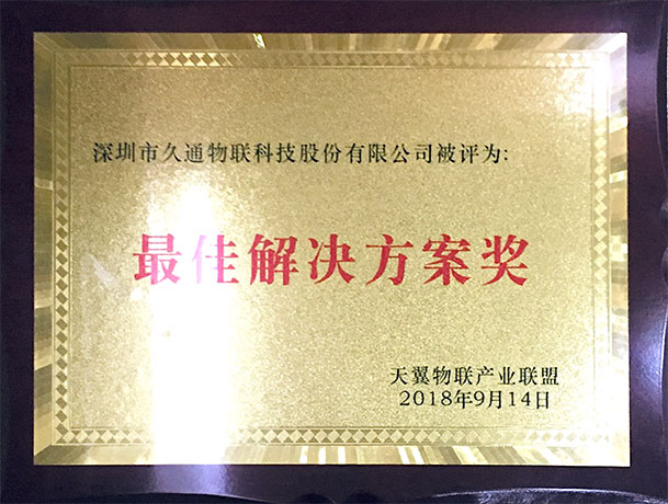 Tianyi IOT Industry Alliance Best Solution Award